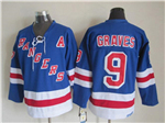 New York Rangers #9 Adam Graves CCM Vintage Blue Jersey