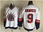 New York Rangers #9 Adam Graves 1998 CCM Liberty Logo White Jersey