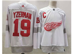 Detroit Red Wings #19 Steve Yzerman White 2020/21 Reverse Retro Jersey