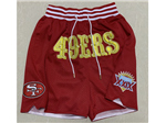 "San Francisco 49ers Just Don ""49ers"" Super Bowl XXIX Red Football Shorts"