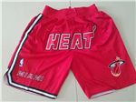 Miami Heat Just Don Red Basketball Shorts