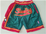 Seattle SuperSonics Just Don Green Basketball Shorts