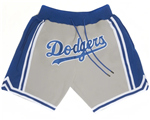 "Los Angeles Dodgers Just Don ""Dodgers"" Gray Baseball Shorts"
