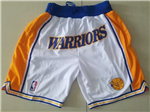 Golden State Warriors Just Don Gold Basketball Shorts