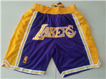 Los Angeles Lakers Just Don Purple Basketball Shorts
