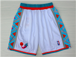 NBA 1996 All Star Game Western Conference White Hardwood Classic Basketball Shorts