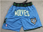 "Minnesota Timberwolves Just Don ""Wolves"" Blue Basketball Shorts"