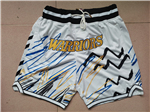 "Golden State Warriors Just Don ""Warriors"" White Sublimated Basketball Shorts"