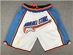 "NBA 1997 All Star Game Just Don ""NBA All Stars"" White Basketball Shorts"
