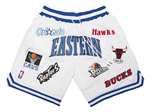 "NBA Eastern Conference Just Don ""Eastern"" White Basketball Shorts"