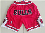 Chicago Bulls Just Don Red Basketball Shorts