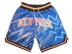 "New York Knicks Just Don ""New York"" Blue Sublimated Basketball Shorts"