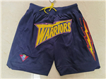 "Golden State Warriors Just Don ""Warriors"" Navy Classic Basketball Shorts"
