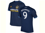 Los Angeles Galaxy 2017/18 Away Navy Blue Soccer Jersey with #9 Ibrahimovic Printing