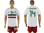 Mexico 2018 World Cup Away White Soccer Jersey with #14 J.Hernandez Printing