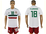 Mexico 2018 World Cup Away White Soccer Jersey with #18 A.Guardado Printing