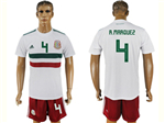 Mexico 2018 World Cup Away White Soccer Jersey with #4 R.Marquez Printing