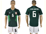 Mexico 2018 World Cup Home Green Soccer Jersey with #6 J.Dos Santos Printing