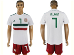 Mexico 2018 World Cup Away White Soccer Jersey with #7 M.Layun Printing