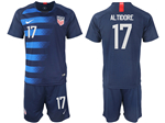 USA 2018/19 Away Navy Soccer Jersey with #17 Altidore Printing