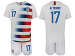USA 2018/19 Home White Soccer Jersey with #17 Altidore Printing